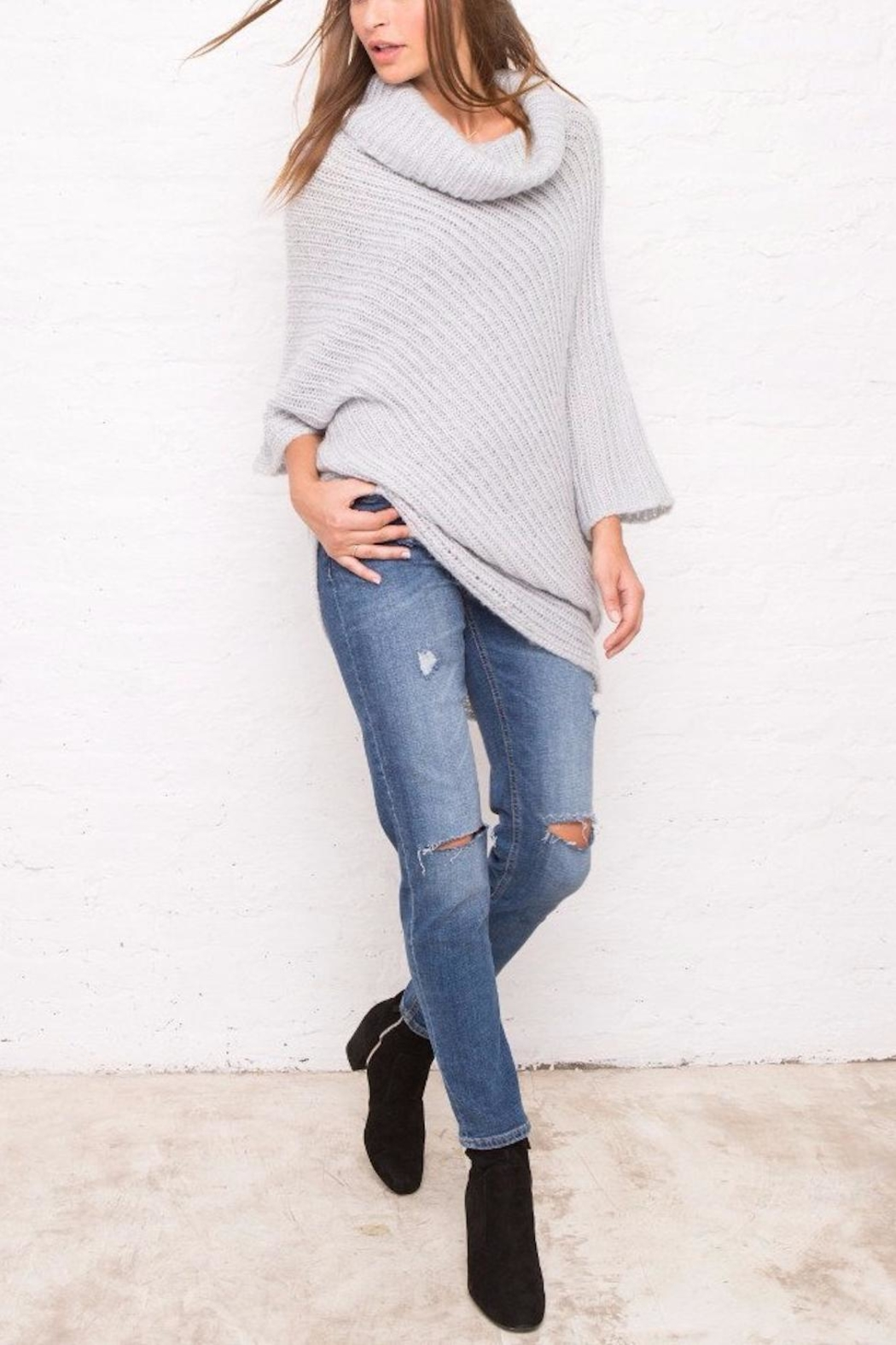 Wooden Ships Ribbed Asymmetrical Top - Side Cropped Image