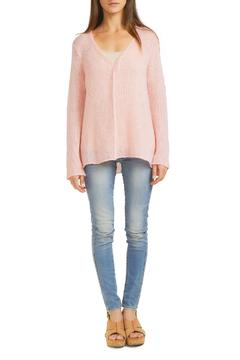 Shoptiques Product: Seamed V Neck Sweater