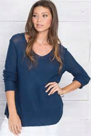 Wooden Ships V-Neck Shirt-Tails Sweater - Side cropped