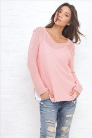 Wooden Ships V-Neck Shirt-Tails Sweater - Front cropped