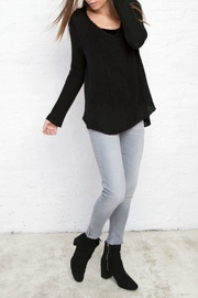 Wooden Ships Long Sleeves Black Sweatshirt - Front cropped