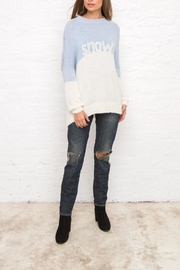 Wooden Ships Snow Colorblock Sweater - Front cropped
