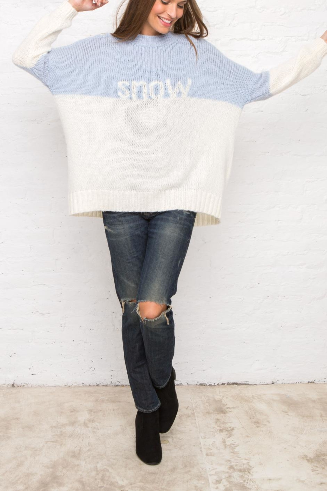 Wooden Ships Snow Colorblock Sweater - Front Full Image