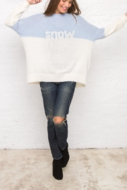 Wooden Ships Snow Colorblock Sweater - Front full body