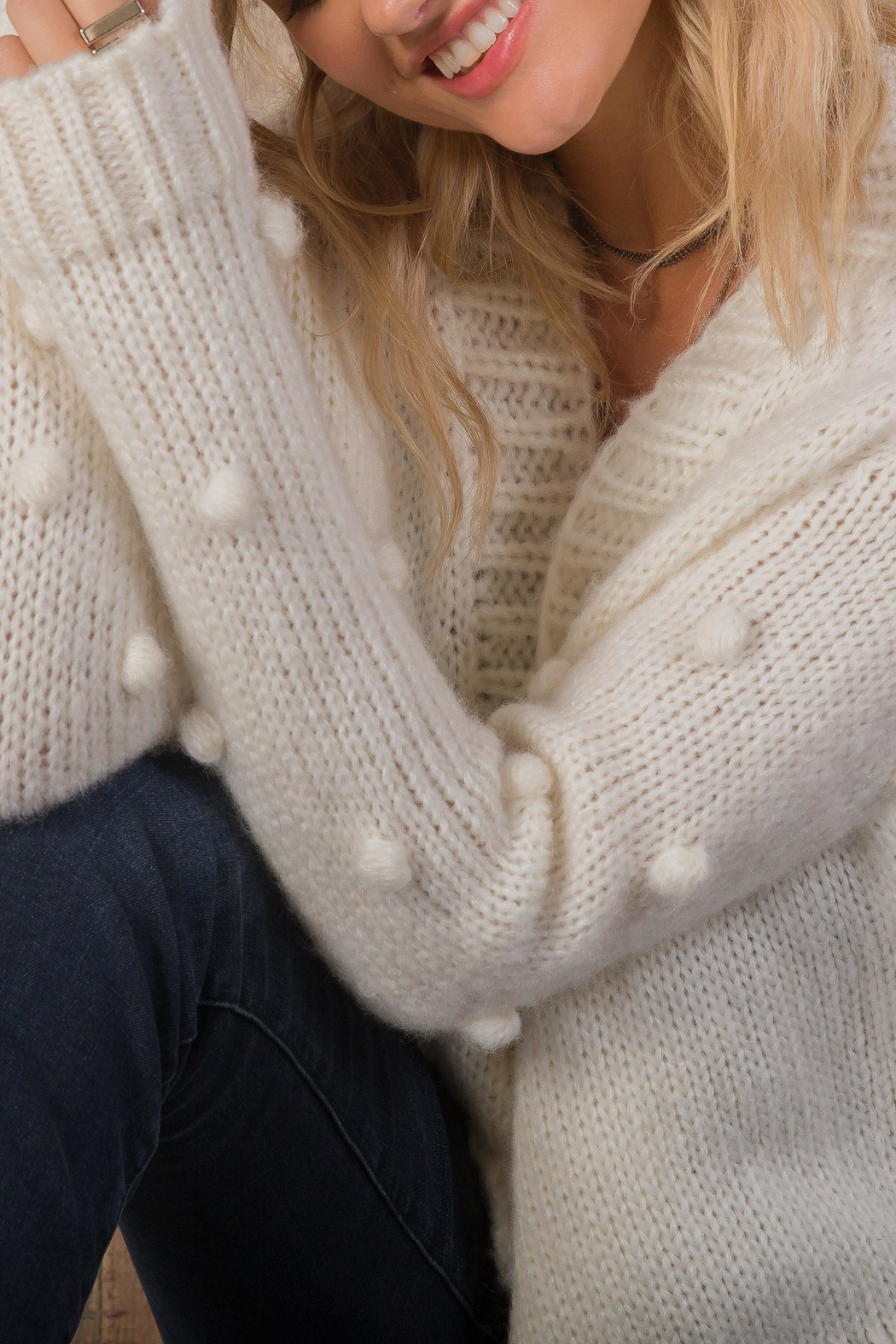 Wooden Ships Snowball Cardi - Side Cropped Image