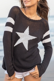 Wooden Ships Star Raglan Crew - Front full body