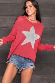 Wooden Ships Star Slouchy Sweater - Product Mini Image