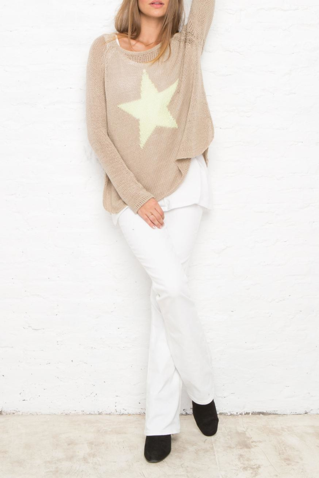 Wooden Ships Star Sweater - Front Full Image