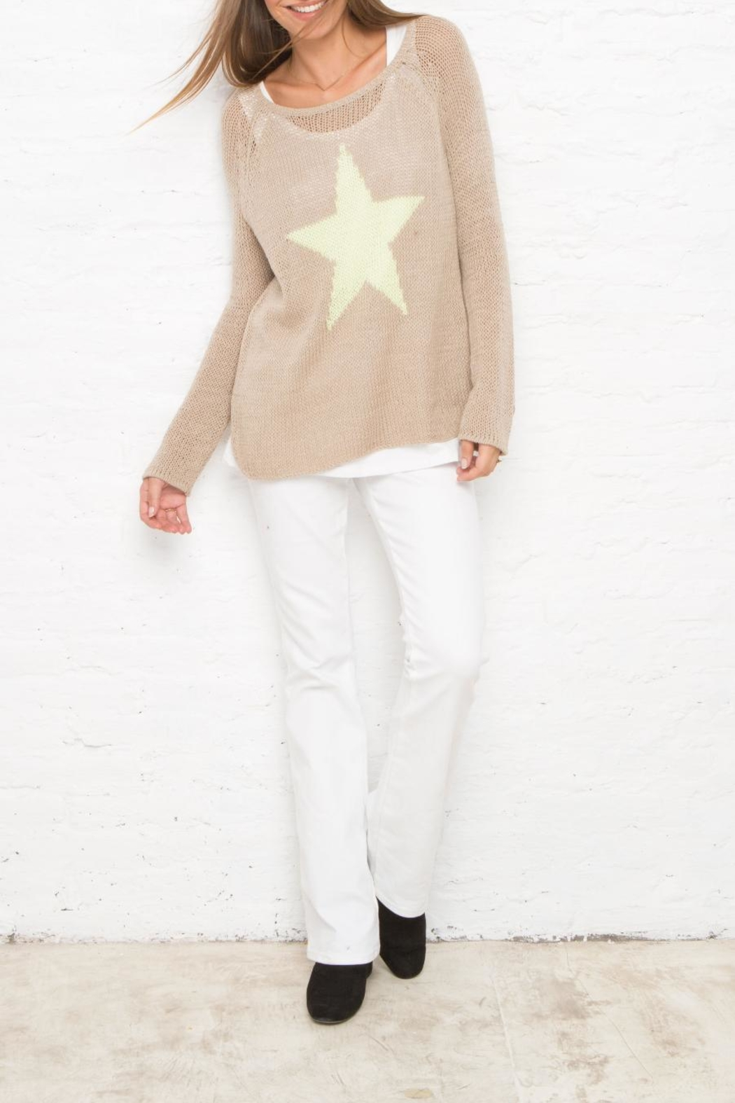 Wooden Ships Star Sweater - Side Cropped Image