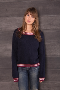 Wooden Ships Stripe Accent Sweater - Alternate List Image