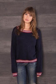 Wooden Ships Stripe Accent Sweater - Product Mini Image