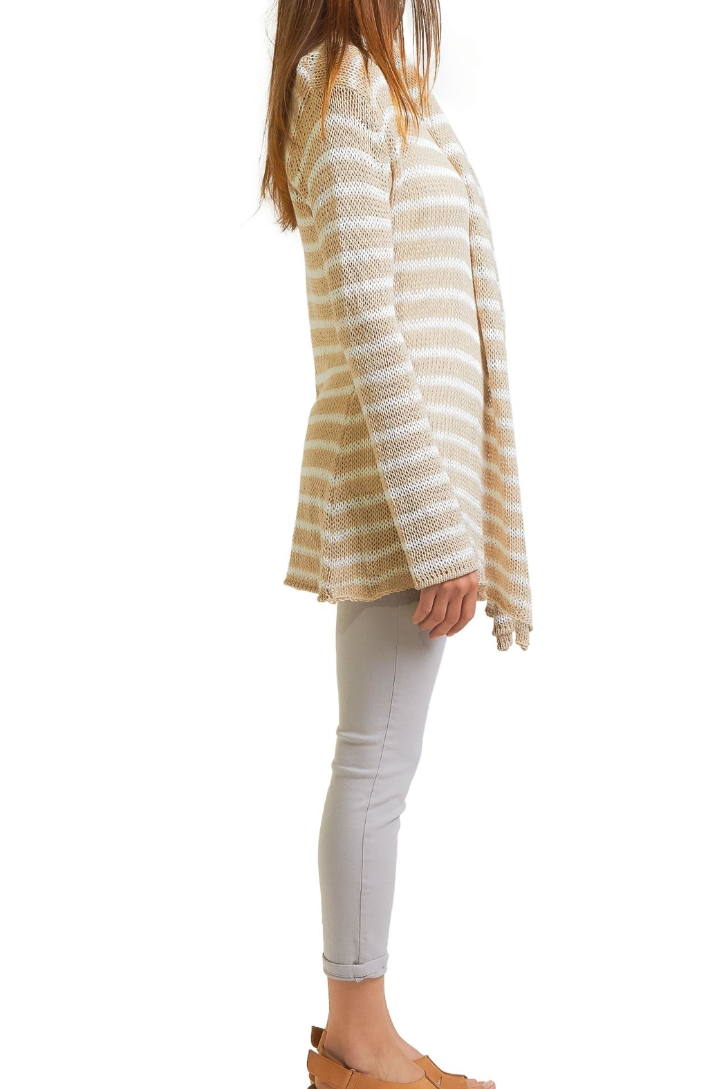 Wooden Ships Stripe Cardigan - Front Full Image