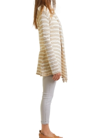 Wooden Ships Stripe Cardigan - Front full body