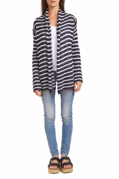 Wooden Ships Stripe Wrap Cardigan - Product List Image