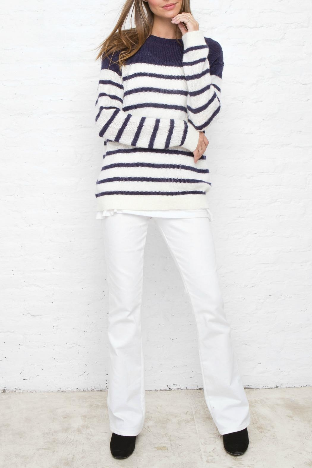 Wooden Ships Stripped Crew Neck Sweater - Main Image