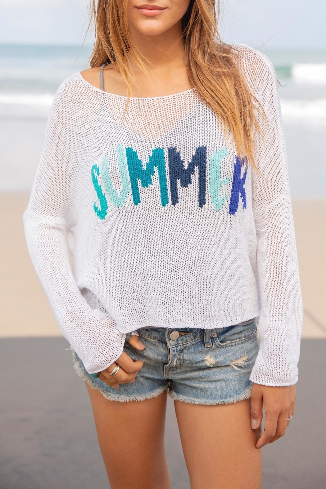 Wooden Ships Summer Crewneck Sweater - Main Image