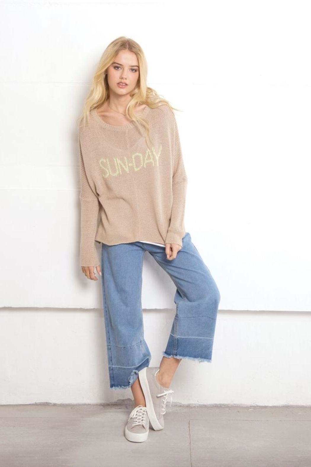 Wooden Ships Sun-Day Crewneck - Side Cropped Image