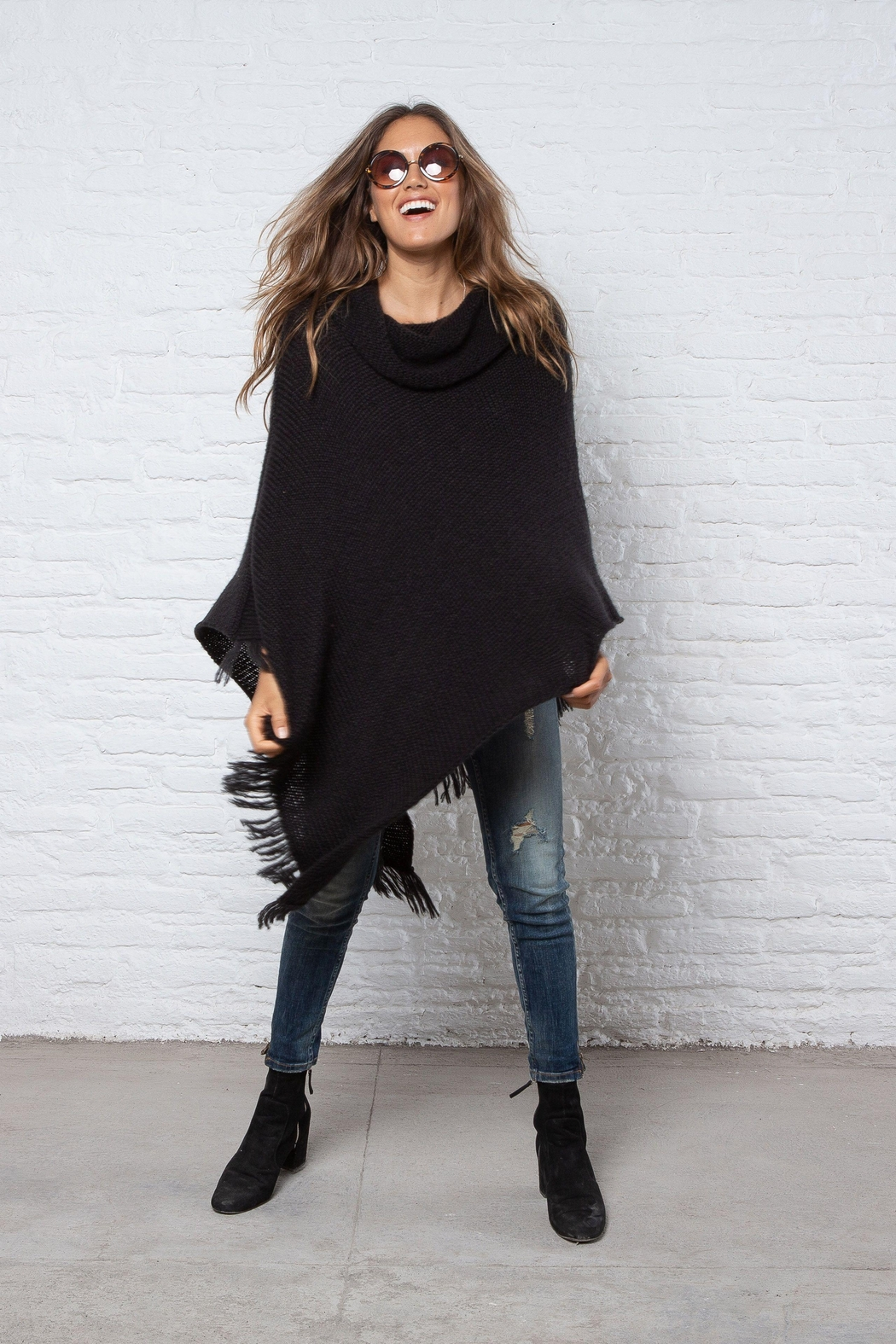 Wooden Ships Tessa Cowl Poncho - Front Full Image