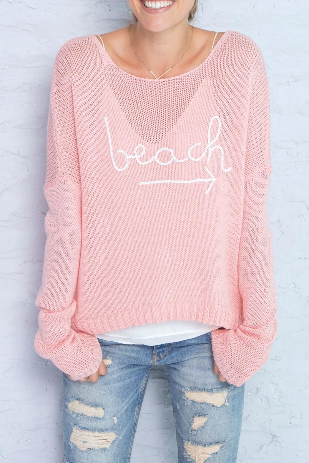 Wooden Ships Beach Sweater - Side Cropped Image