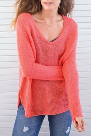 Wooden Ships V-Neck Shirt-Tails Sweater - Front full body