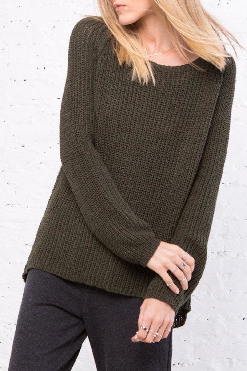 Wooden Ships Winslett Raglan Sweater - Front Cropped Image
