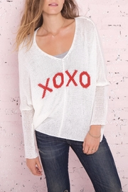 Wooden Ships Xoxo Cotton Sweater - Product Mini Image