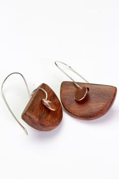 Woodfolk Half Moon Earrings - Alternate List Image