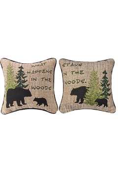 Manual Woodworkers and Weavers Woodland Advice Pillow - Alternate List Image