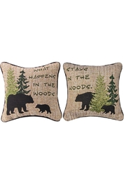Manual Woodworkers and Weavers Woodland Advice Pillow - Product Mini Image