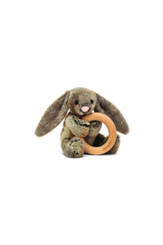 Jellycat  Woodland Babe Bunny Wooden Ring Toy - Product Mini Image