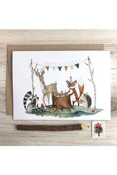Little Pine Artistry Woodland Happy Birthday Card - Product List Image