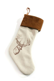 Gift Craft Woodland Stocking - Front cropped