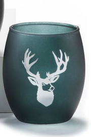 Gift Craft Woodland votive cups - Front cropped