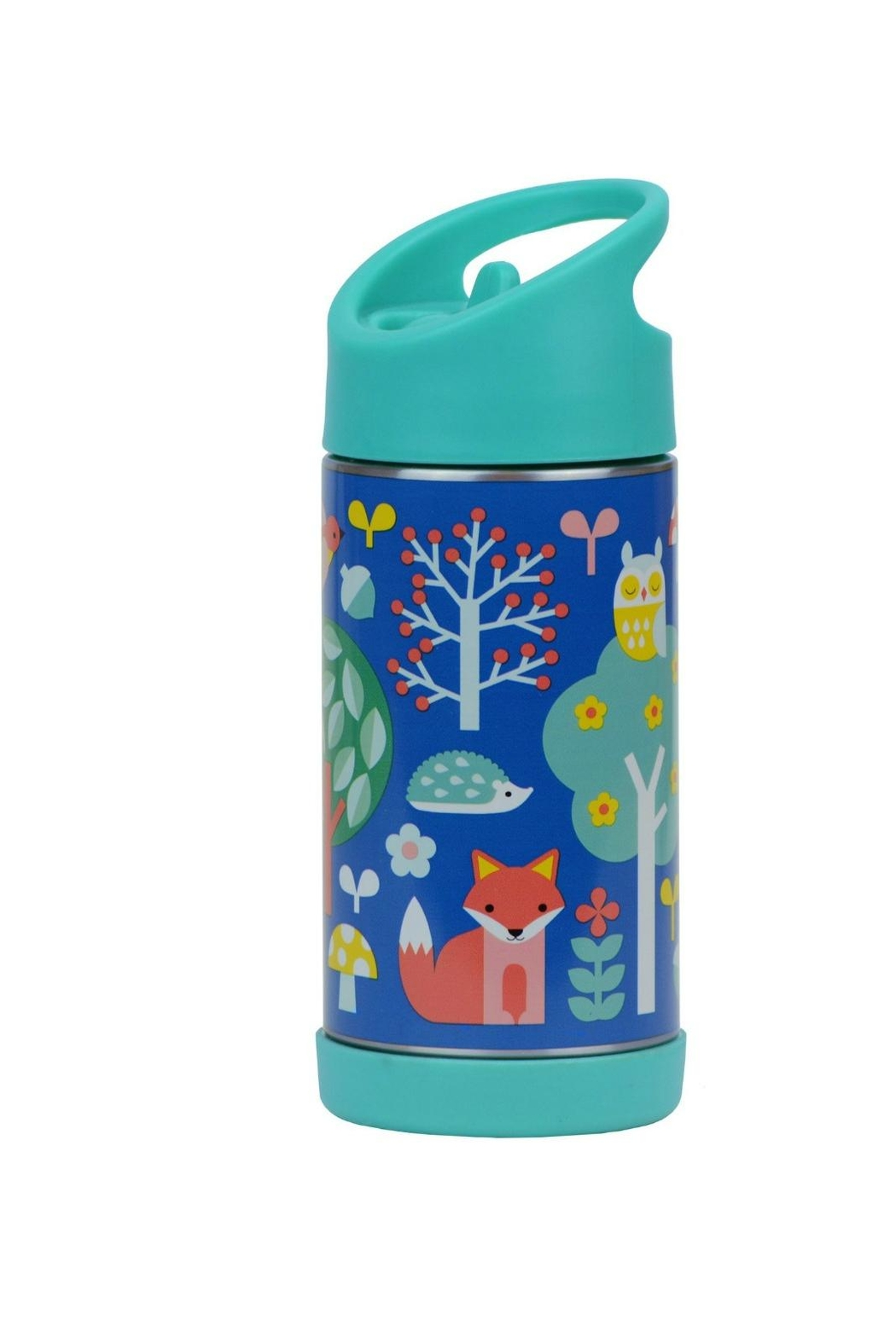 Petit Collage Woodland Water Bottle - Front Cropped Image