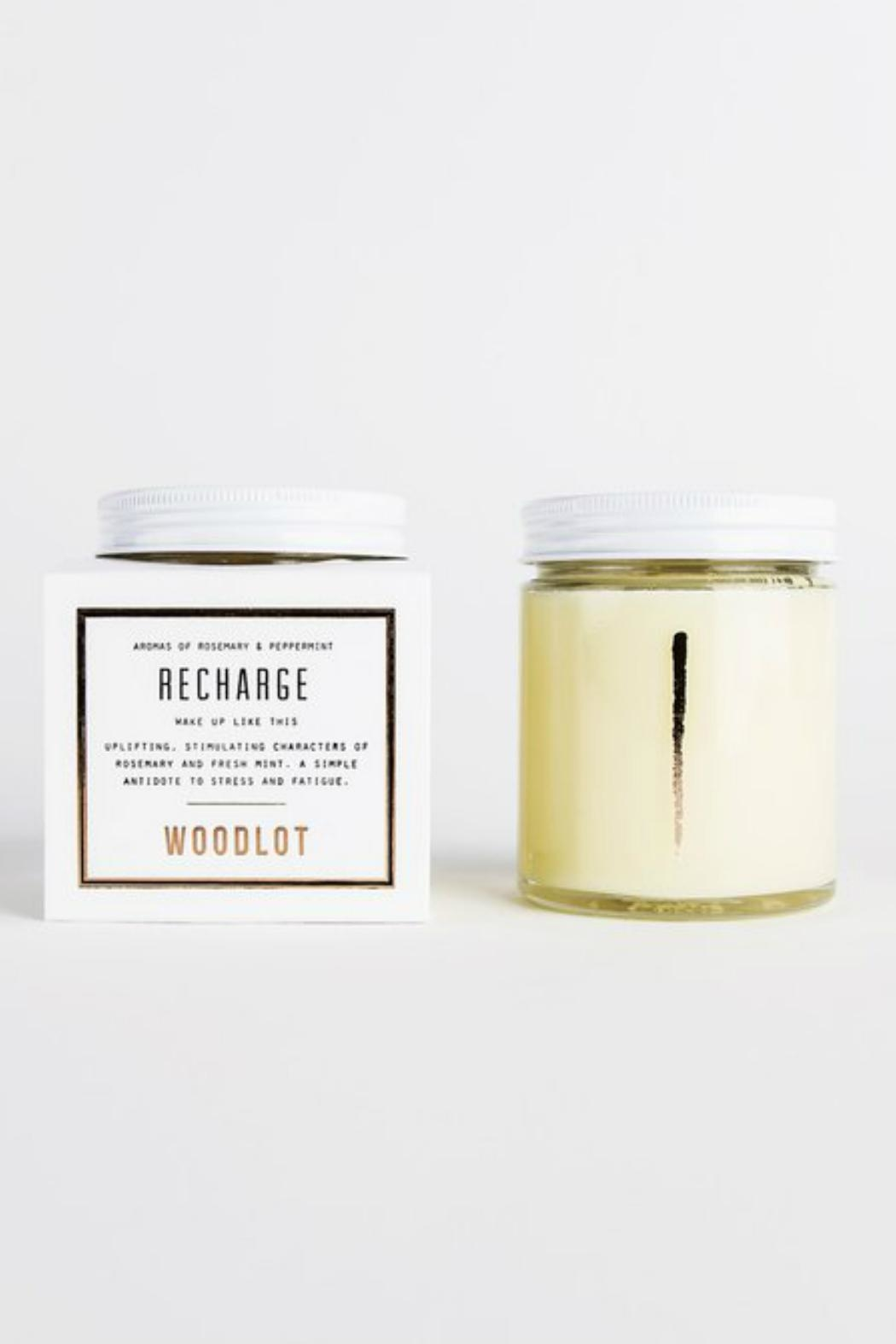 Woodlot Recharge Jar Candle - Front Full Image