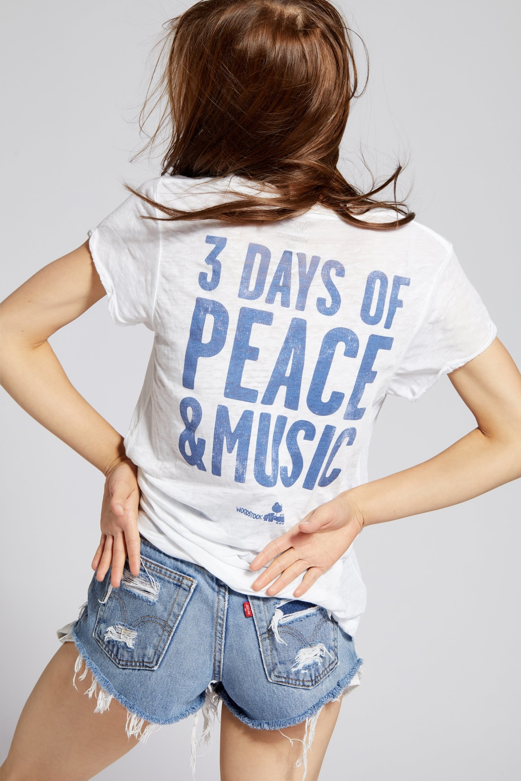 Recycled Karma Woodstock Peace Tee - Front Full Image