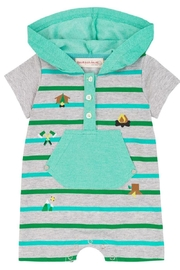 Deux Par Deux Woody Buddy Romper - Front full body