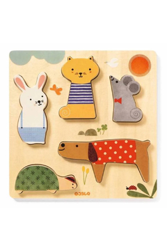 Djeco Woody Pets 5 Piece Puzzle - Product List Image