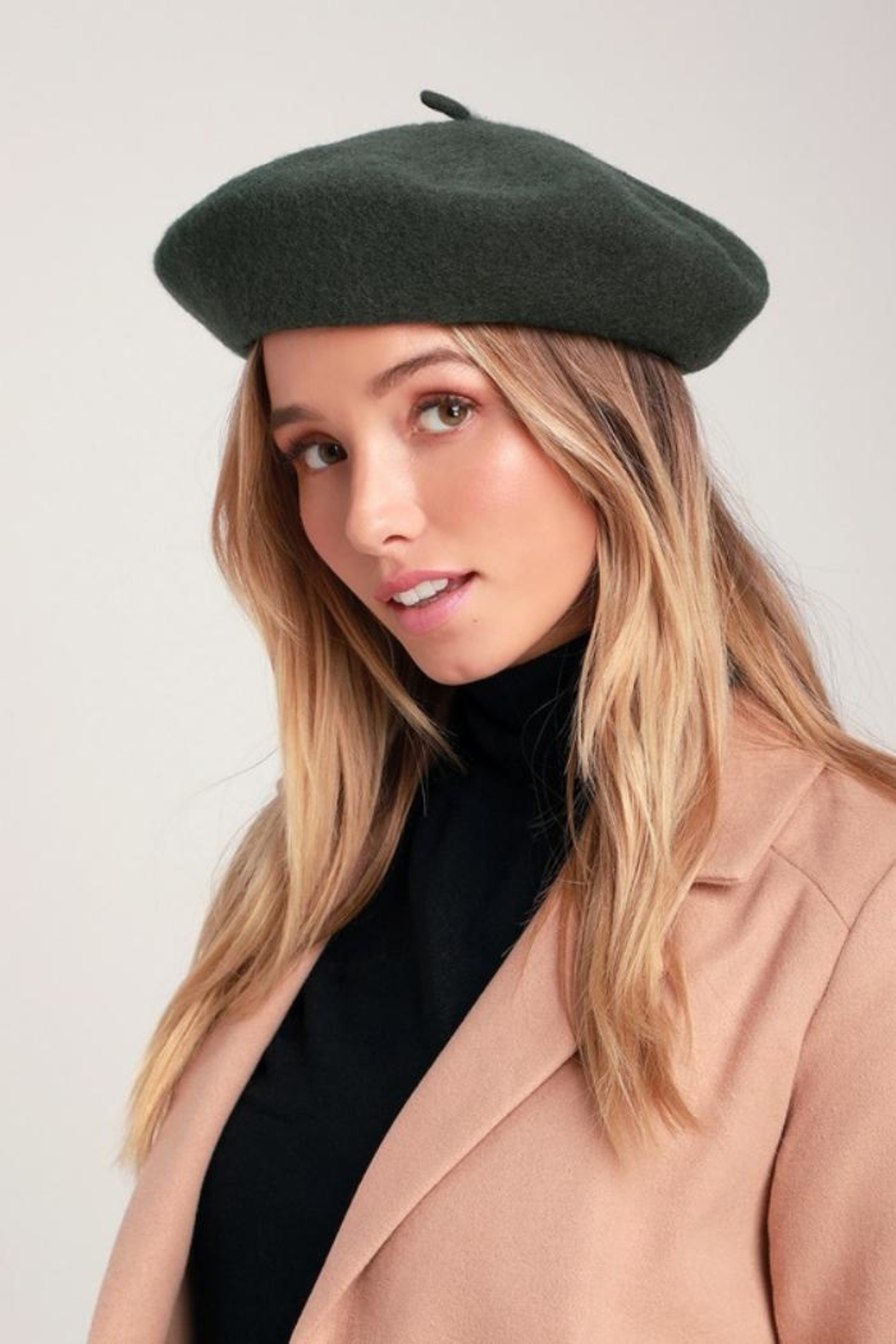 Olive & Pique Wool Beret - Front Cropped Image
