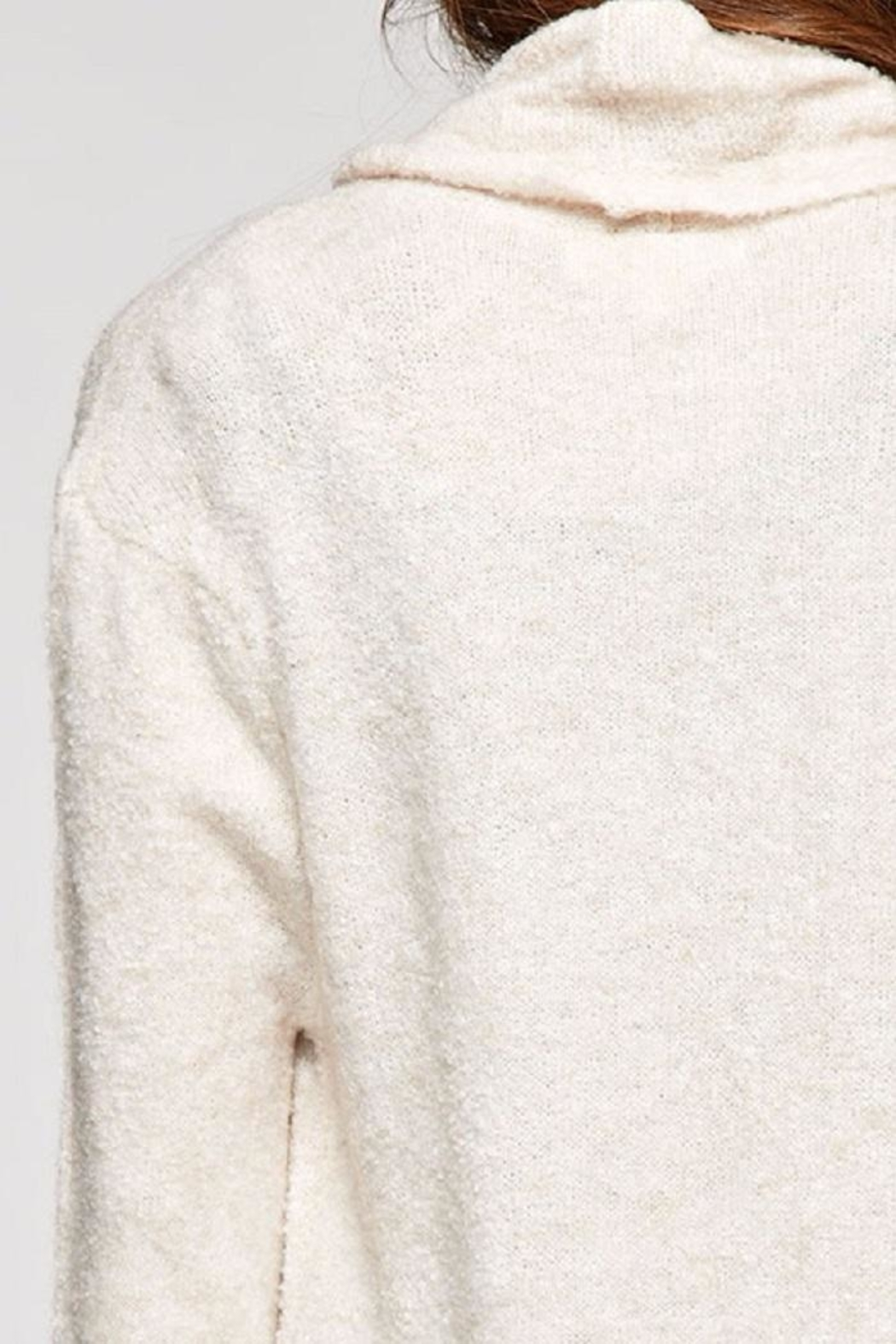 Love Stitch Wool Blend, Long Sleeve Duster - Side Cropped Image