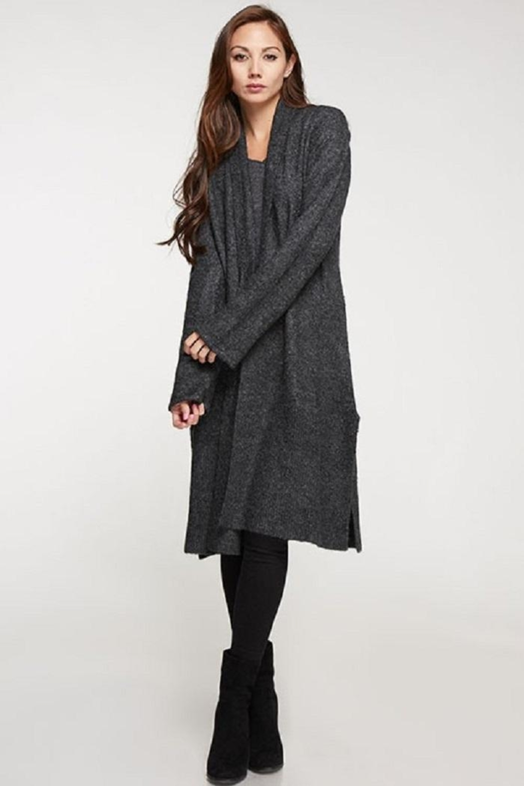 Love Stitch Wool Blend, Long Sleeve Duster - Main Image