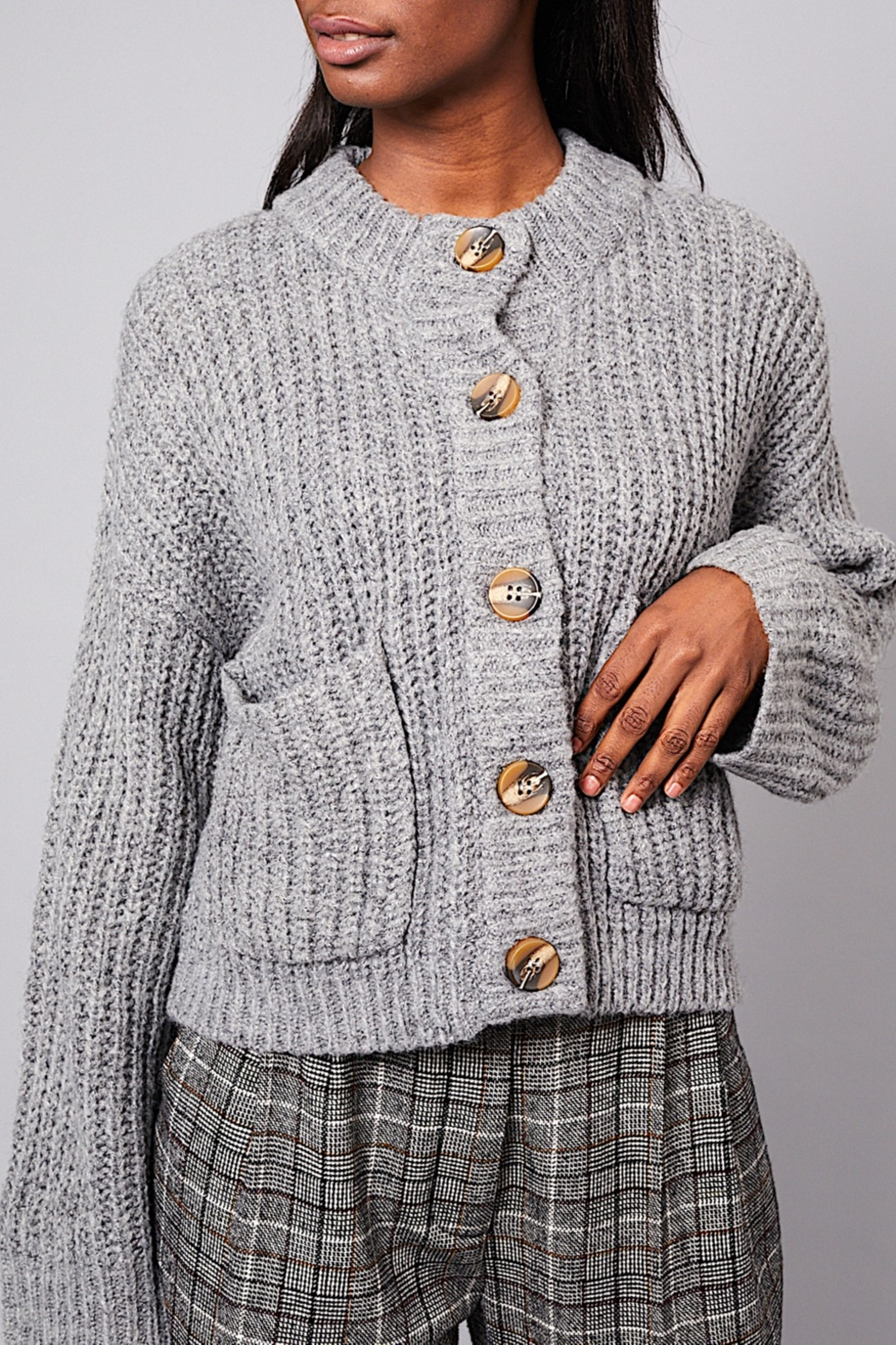 Native Youth Wool-Blend Short Cardi - Main Image