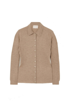 LouLou Studio Wool Cashmere Button Up Polo - Alternate List Image