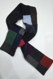 Woolies Wool handcrafted luxurious scarf made from reclaimed sweaters, felt lined - Product Mini Image