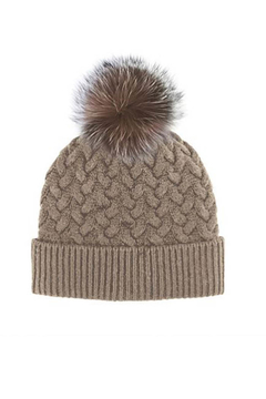 Mitchies Matching Wool Hat - Fox Pom - Alternate List Image