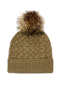 Mitchies Matching Wool Hat - Raccoon Pom - Alternate List Image