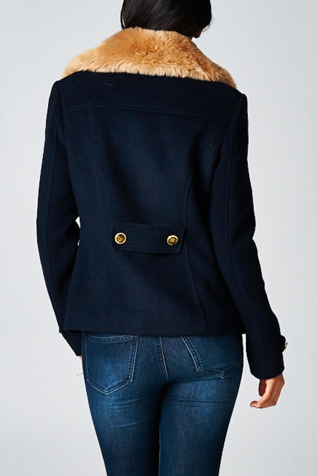 Lovestitch Wool Pea Jacket - Front Full Image