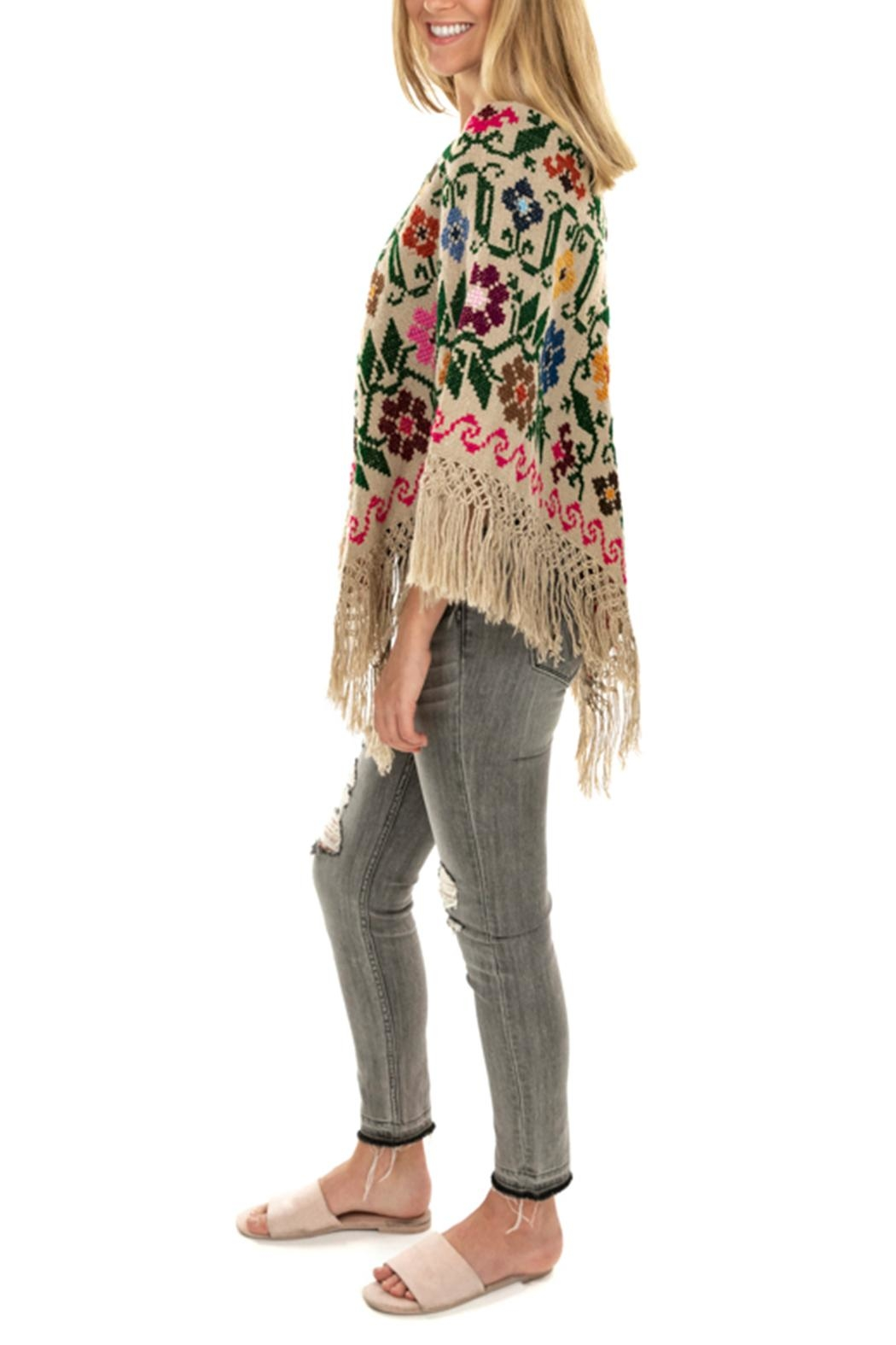 Nativa Wool Poncho - Side Cropped Image