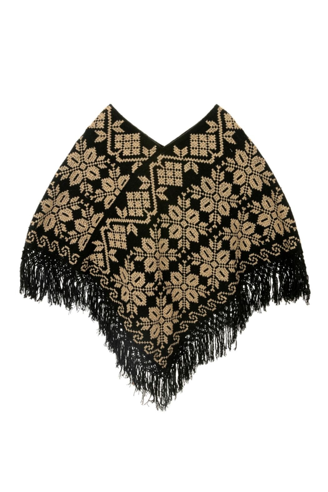 Nativa Wool Poncho - Front Cropped Image