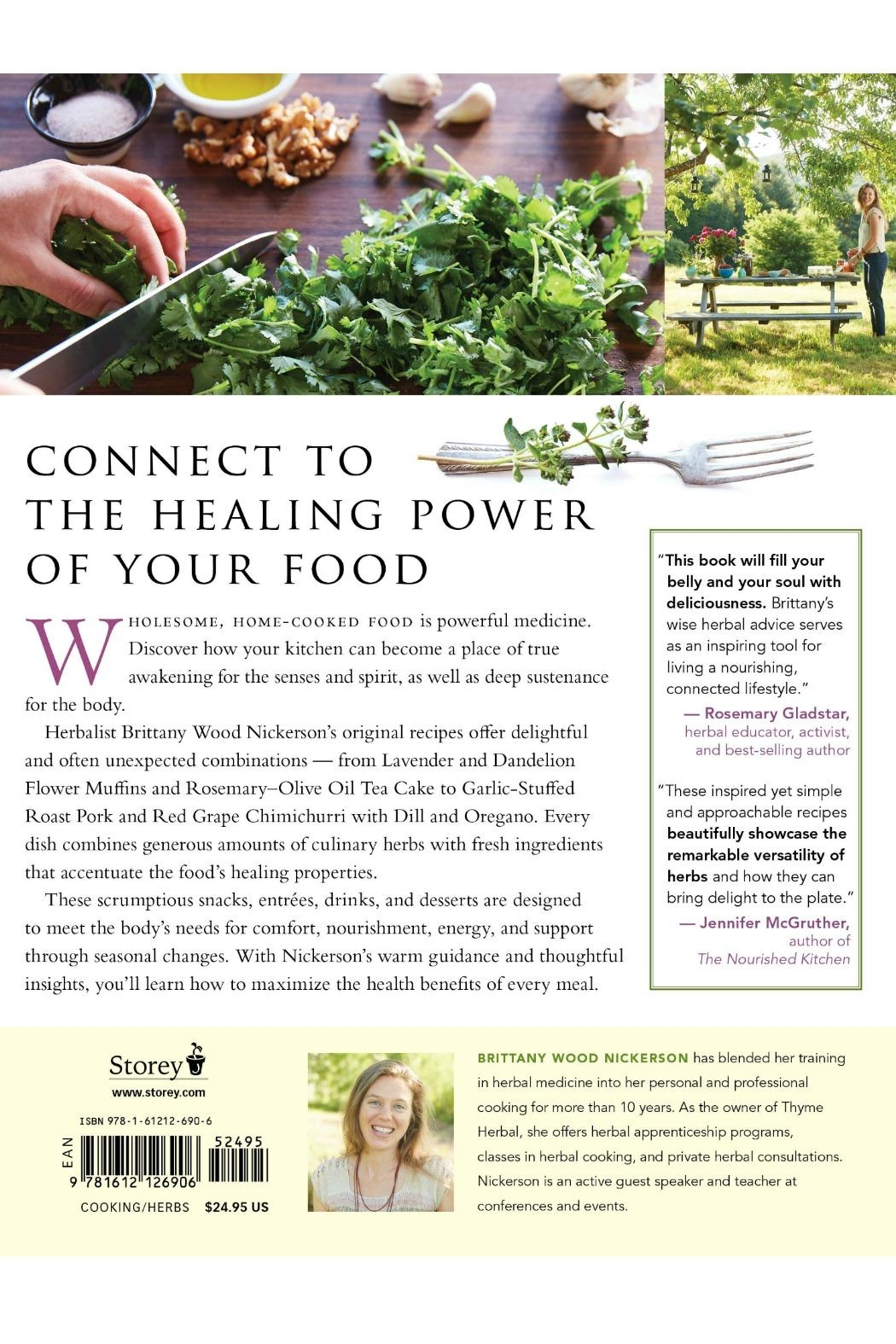 Workman Publishing Herbalist's Kitchen Recipes - Front Full Image